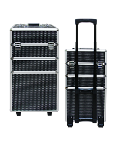 Suitcase 3 sections Black diamond Big: 35 x 25 x 68 cm