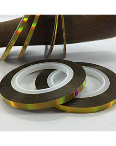 6 rubans autocollantsdécoratifs or hologramme de largeur variée