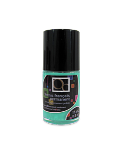 Turquoise French permanent polish matte