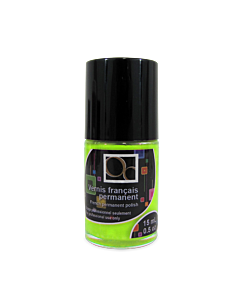 French permanent polish fluo green
