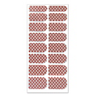 Nail Wrap Foil Stickers - Criss Cross - Red/Silver #067