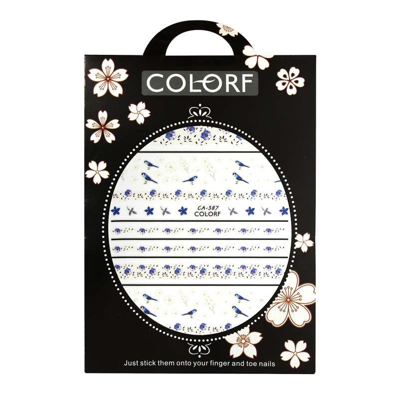 3-D Nail Sticker model Birds and Flowers CA-387