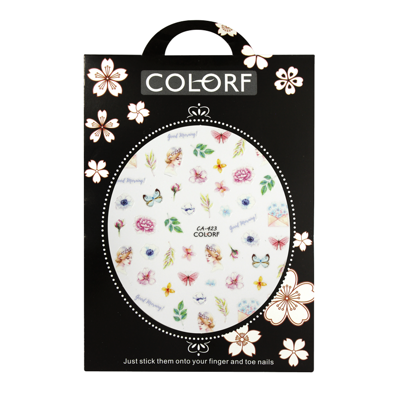 3-D Nail Sticker model Butterfly and Flower CA-423