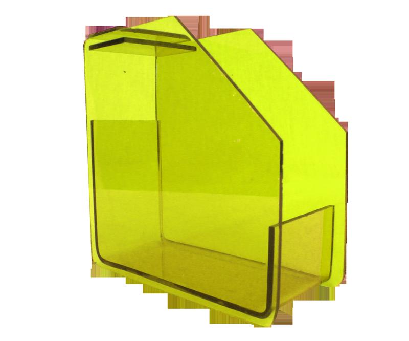 Distributeur de Formes en Acrylique Jaune Fluo