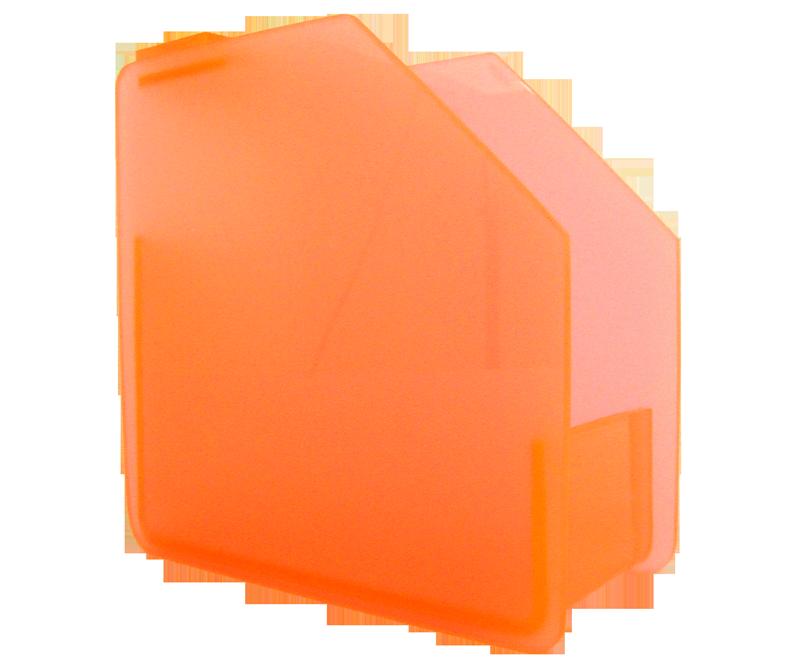 Distributeur de Forme en Acrylique Orange Fluo