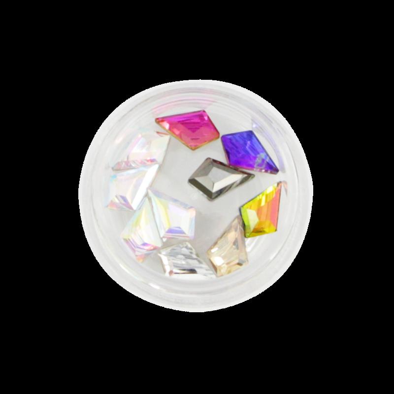 Nail Art Kit 21 - Arrow Shaped Stones Multicolor AB 10pcs