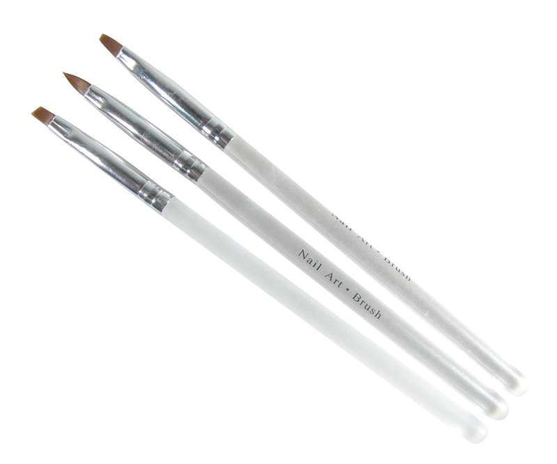 UV Gel Brush Set Frosted Handle Square/Angle/Oval #4