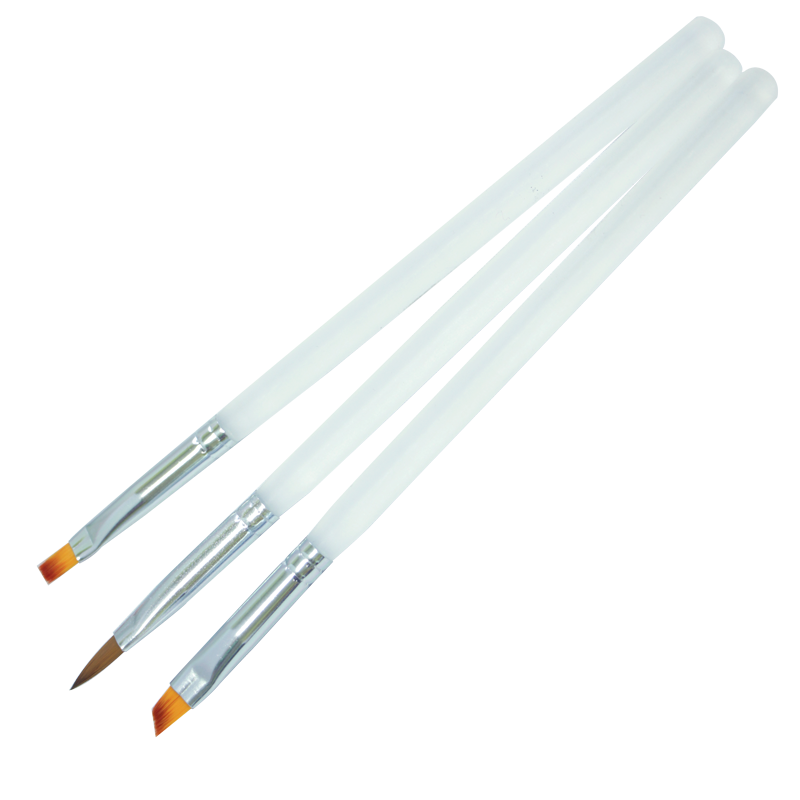 UV Gel Brush Set Frosted Handle Square/Angled/Pointed Round