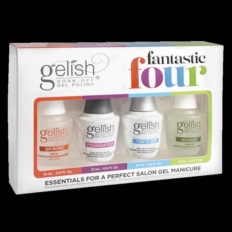 Gelish Gel Polish Fantastic Four - 4 Essentials Kit