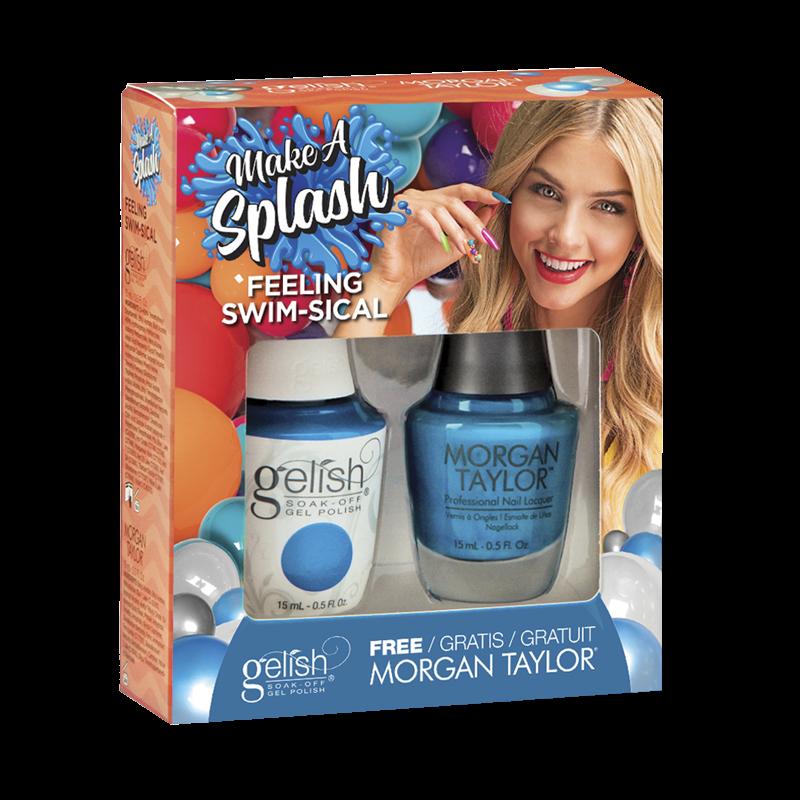 Gelish Gel Polish + Morgan Taylor Feeling Swim-Sical 15 mL
