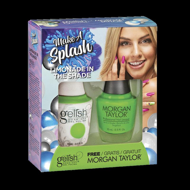 Gelish Gel Polish + Morgan Taylor Limonade in the Shade 15 ml
