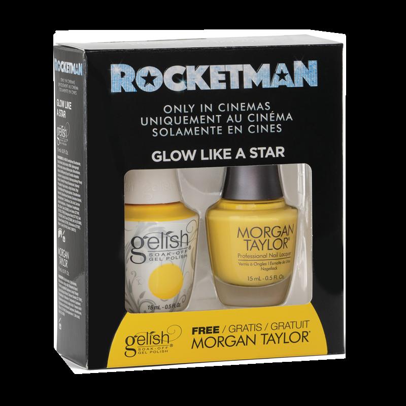 Gelish Gel Polish + Morgan Taylor Glow Like a Star