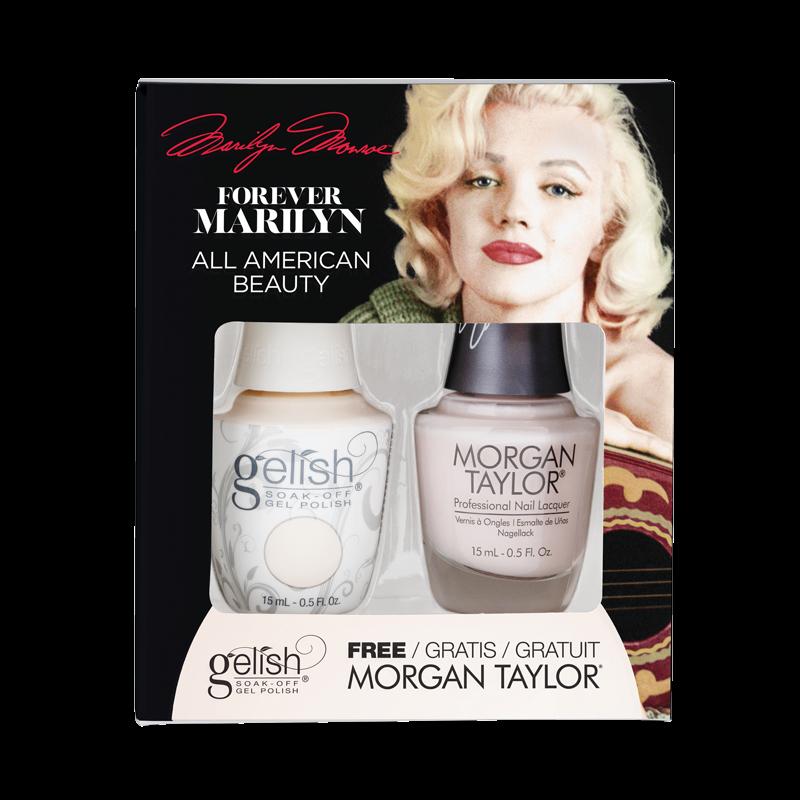 Gelish Gel Polish + Morgan Taylor All American Beauty