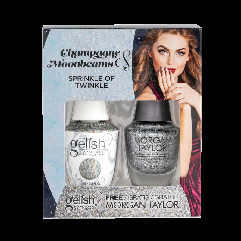 Gelish Gel Polish + Morgan Taylor Sprinkle of Twinkle
