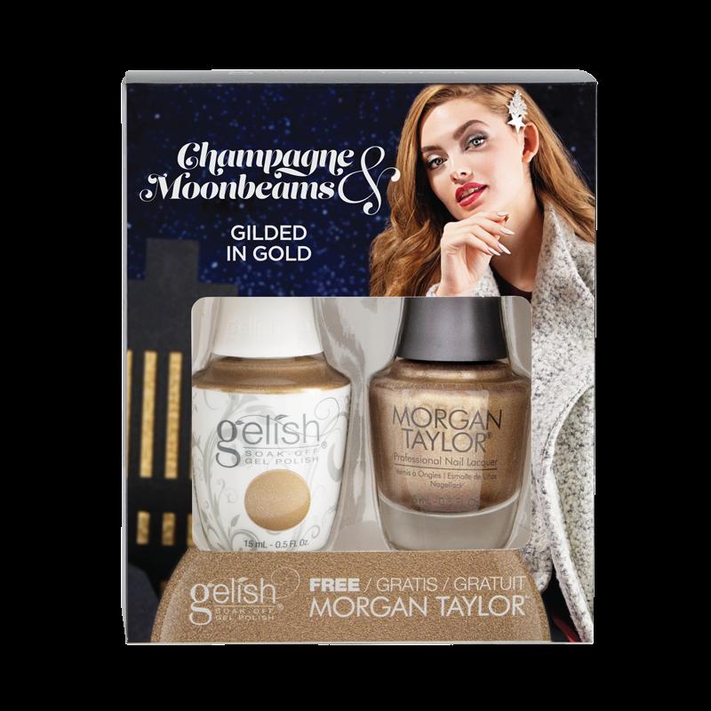Gelish Gel Polish + Morgan Taylor Gilded in Gold