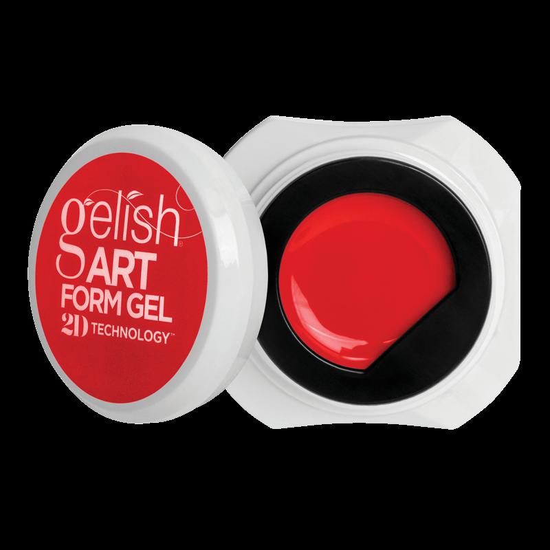 Gelish Art Form Gel - Neon Red 5g