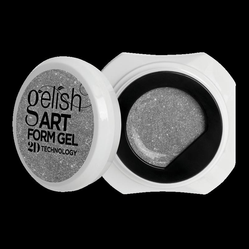 Gelish Art Form Gel - Effet Argent Brillant 5g