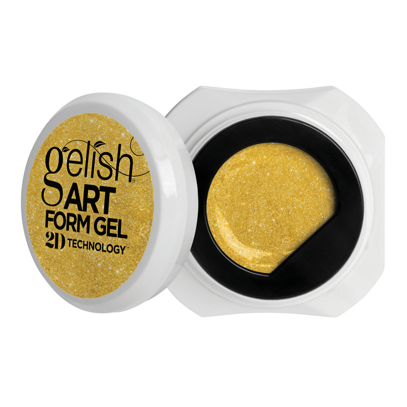 Gelish Art Form Gel - Effects Gold Shimmer 5g