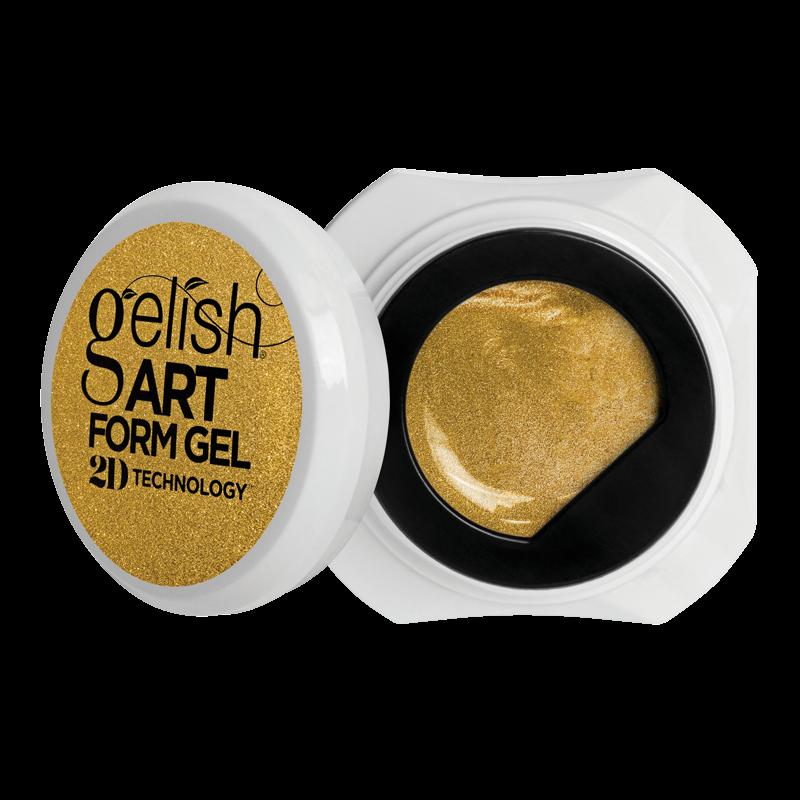 Gelish Art Form Gel - Effects Gold Metallic 5g