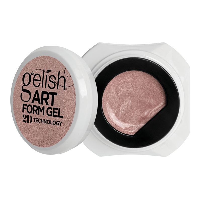 Gelish Art Form Gel - Effects Rose Gold Metallic 5g
