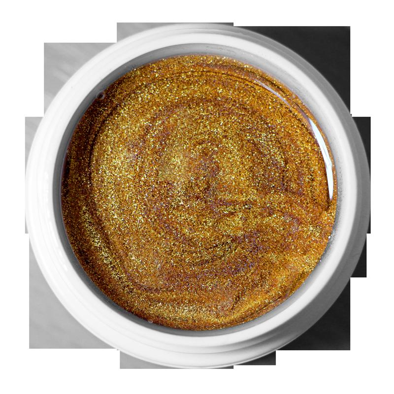 UV Gel Perfection Gold Sparkle color 1/2 oz