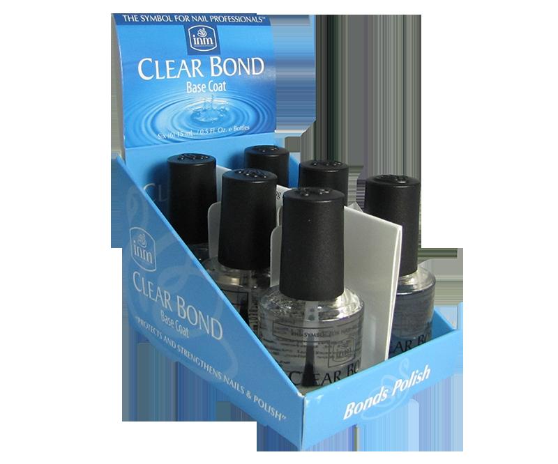 INM Base Coat Clear Bond (Transparent) 6 x 1/2 oz