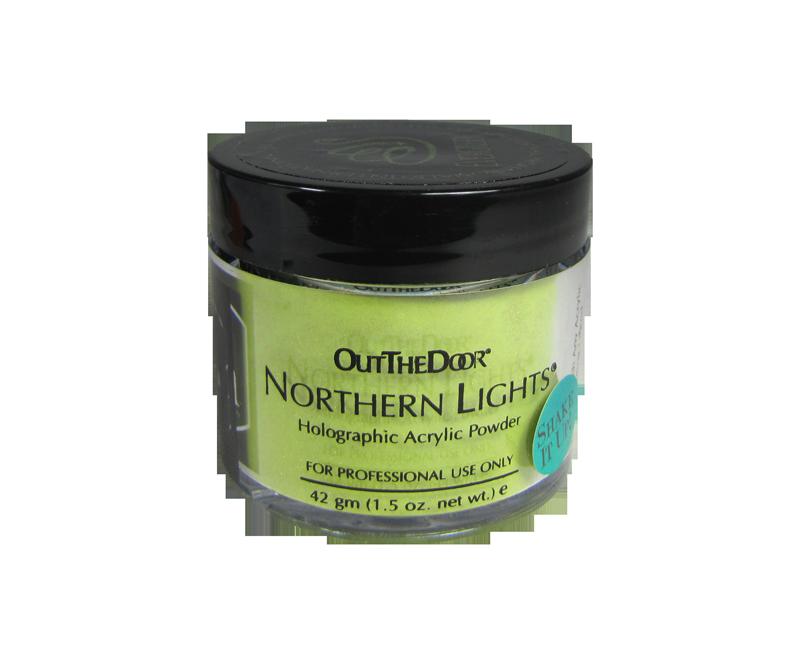 INM Poudre Northern Light Holographic Evergreen 1.5oz (INMNLAEG1