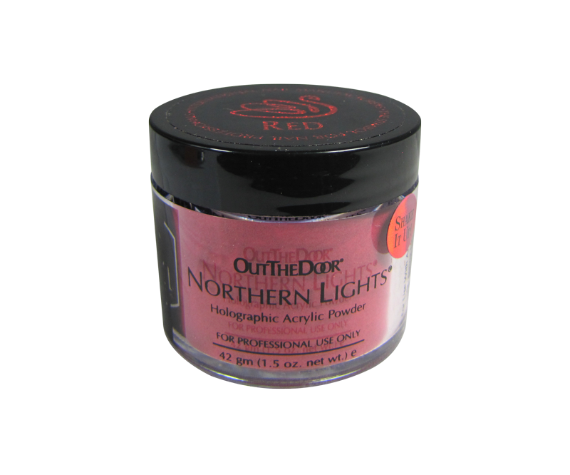 INM Poudre Northern Light Holographic Red 1.5oz (INMNLAR1)