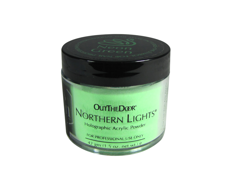 INM Poudre Northern Light Holographic Neon Green 1.5oz (INMNLNG1