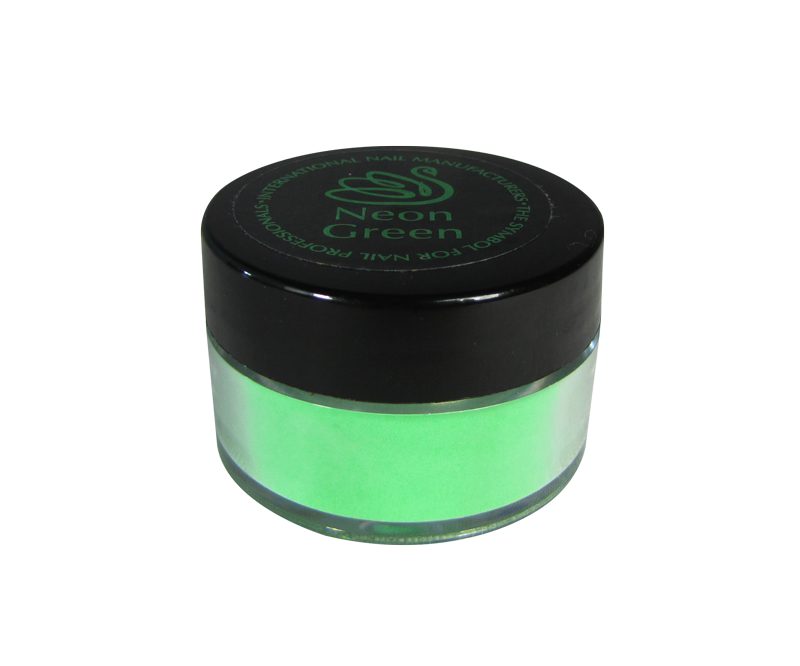 INM Poudre Northern Light Holographic Neon Green 1/2oz
