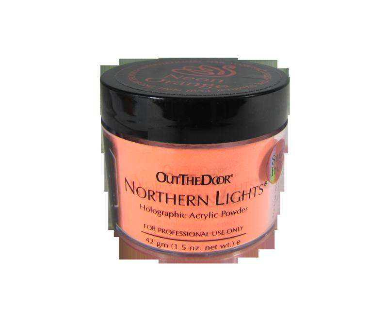 INM Poudre Northern Light Holographic Neon Orange 1.5oz (INMNLNO