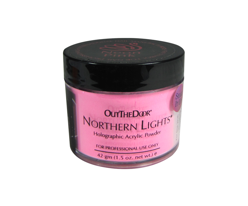 INM Poudre Northern Light Holographic Neon Pink 1.5oz