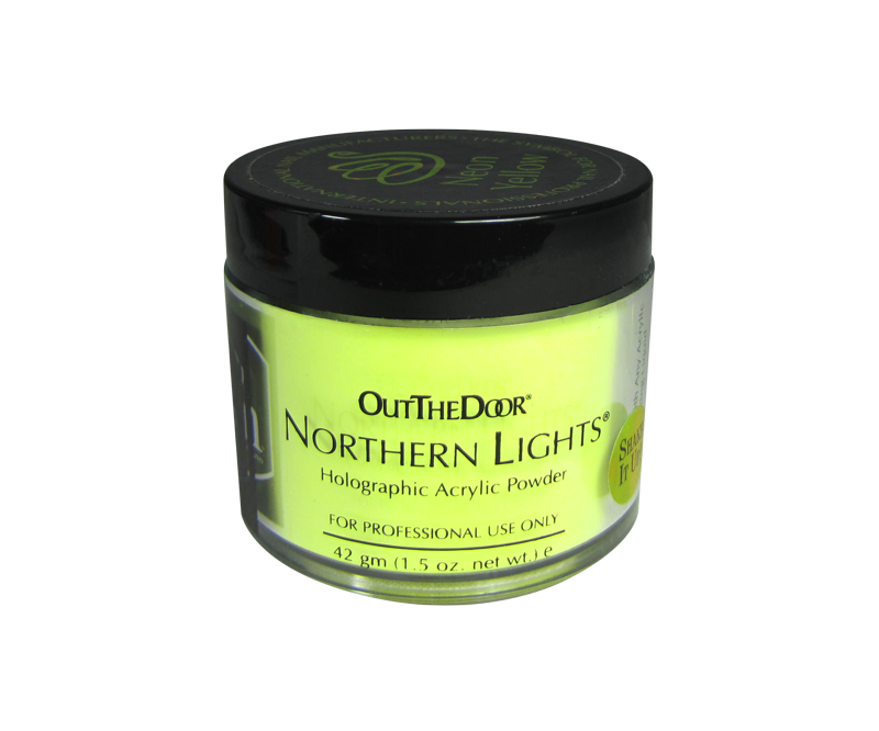 INM Poudre Northern Light Holographic Neon Yellow 1.5oz
