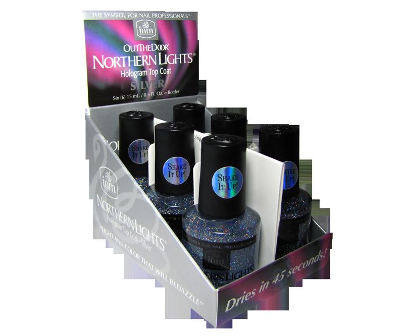 INM Northern Lights Top Coat Argent 6 x 1/2 oz