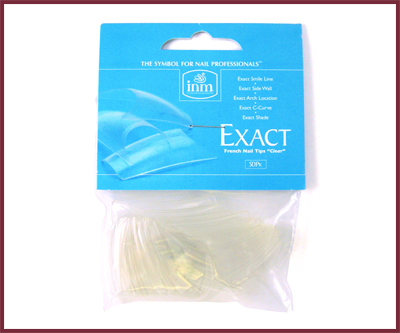 INM Prothèses Exact Clear Nail Tips 50 pcs #8