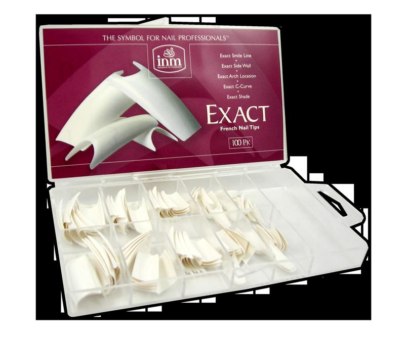 INM Prothèses Exact French White Nail Tips 100 pcs