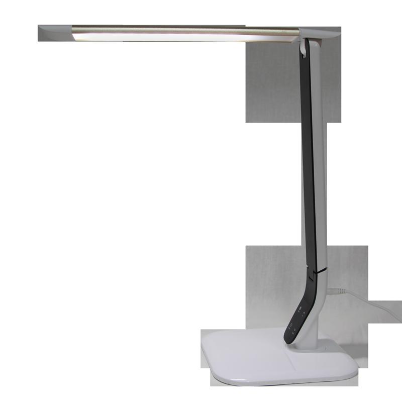 Lampe de Table LED 10 Watts Blanche et Argent 3 Températures de Lumière