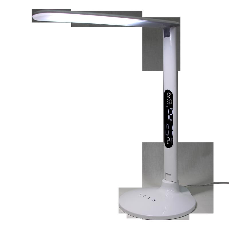 Lampe de Table LED 10 Watts Blanche Écran ACL et 3 couleurs de lumière 110 Volts