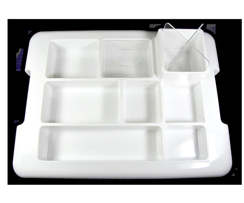Plateau de Travail en Plastique Blanc (MATR-01)