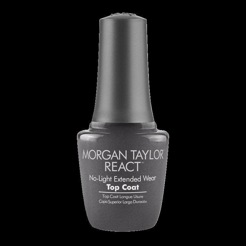 Morgan Taylor Nail Polish REACT Top Coat 15mL