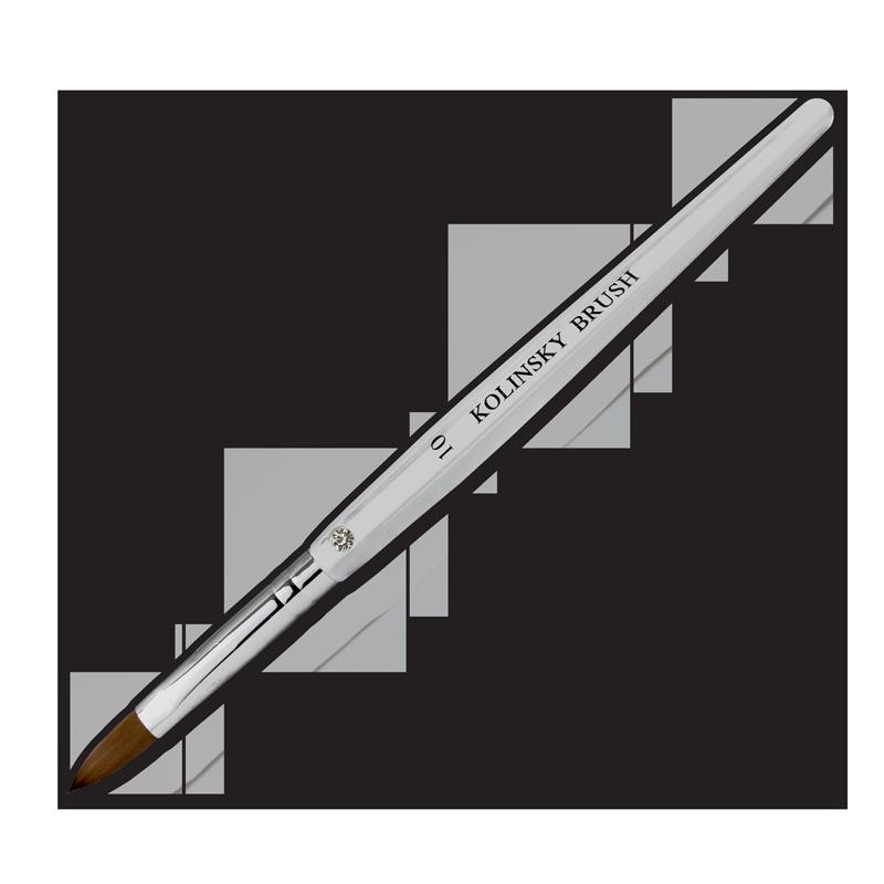 Kolinsky Acrylic Brush Flat Ferrule #10