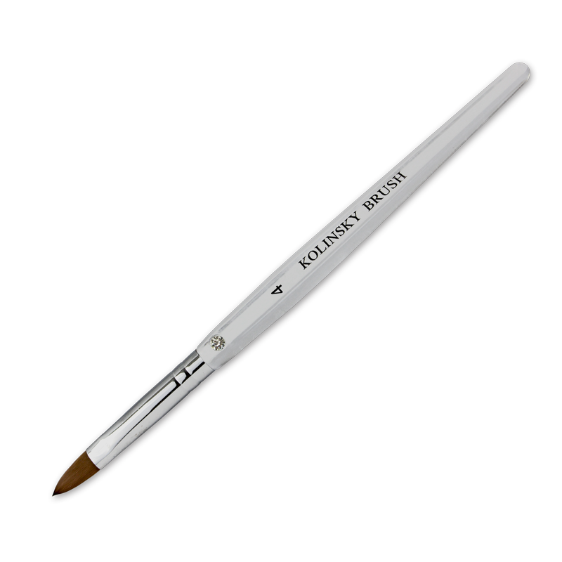 Kolinsky Acrylic Brush Flat Ferrule #4