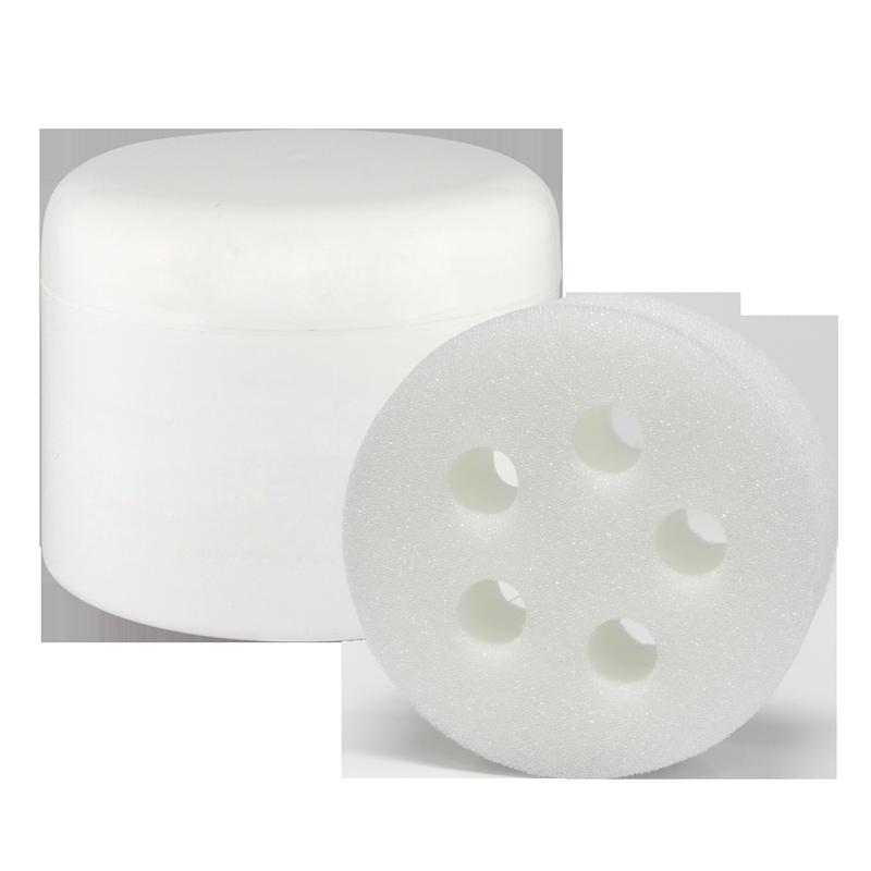 Pot Dilue-Tout en Plastique 8oz avec Couvercle + Éponge 5 Trous