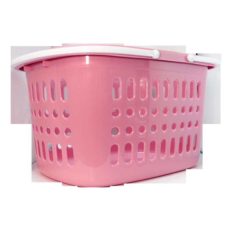 Panier de plastique empilable rose 40x29x22cm