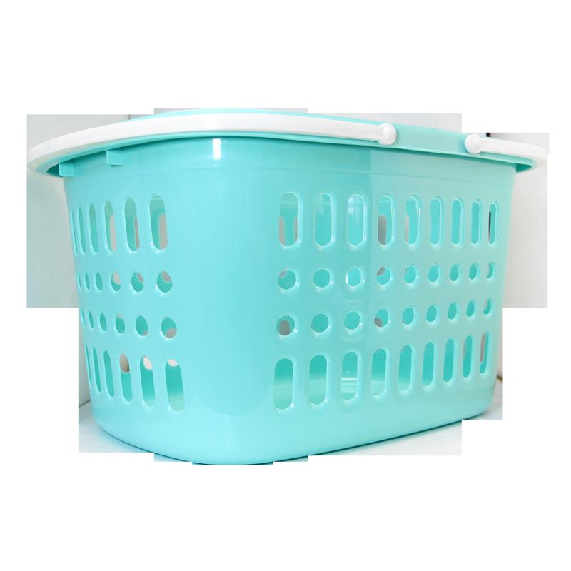 Panier de plastique empilable turquoise 40x29x22cm