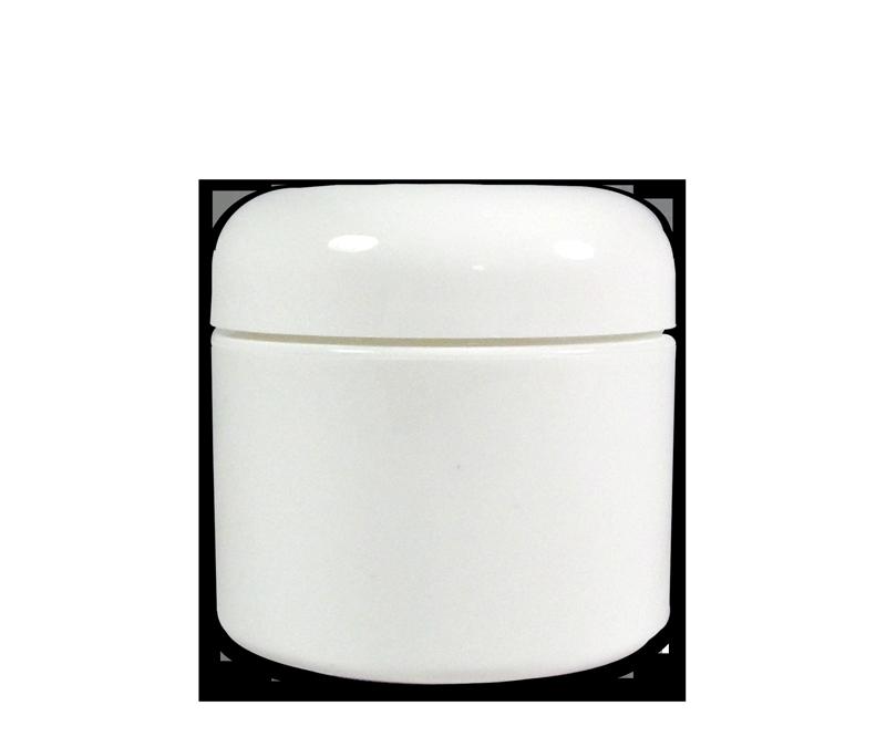 Pot Vide en Plastique Blanc avec Couvercle 2 oz.