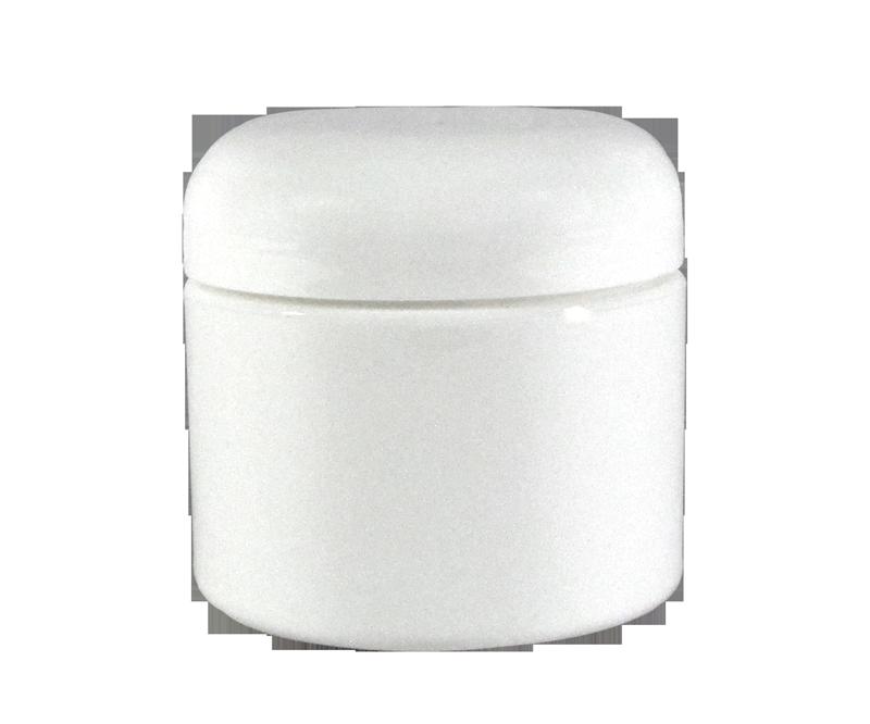 Pot Vide en Plastique Blanc avec Couvercle 4 oz.
