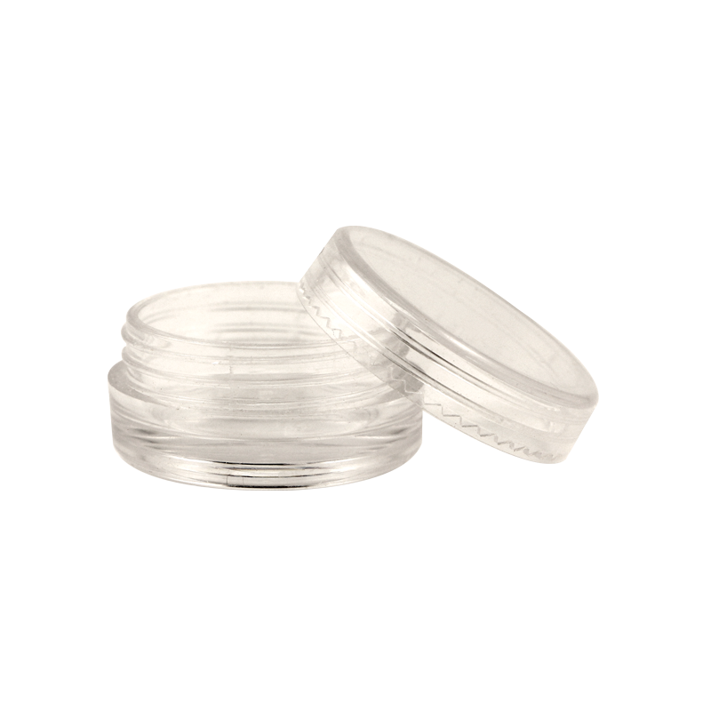 Pot Vide en Plastique Clair avec Couvercle 2g