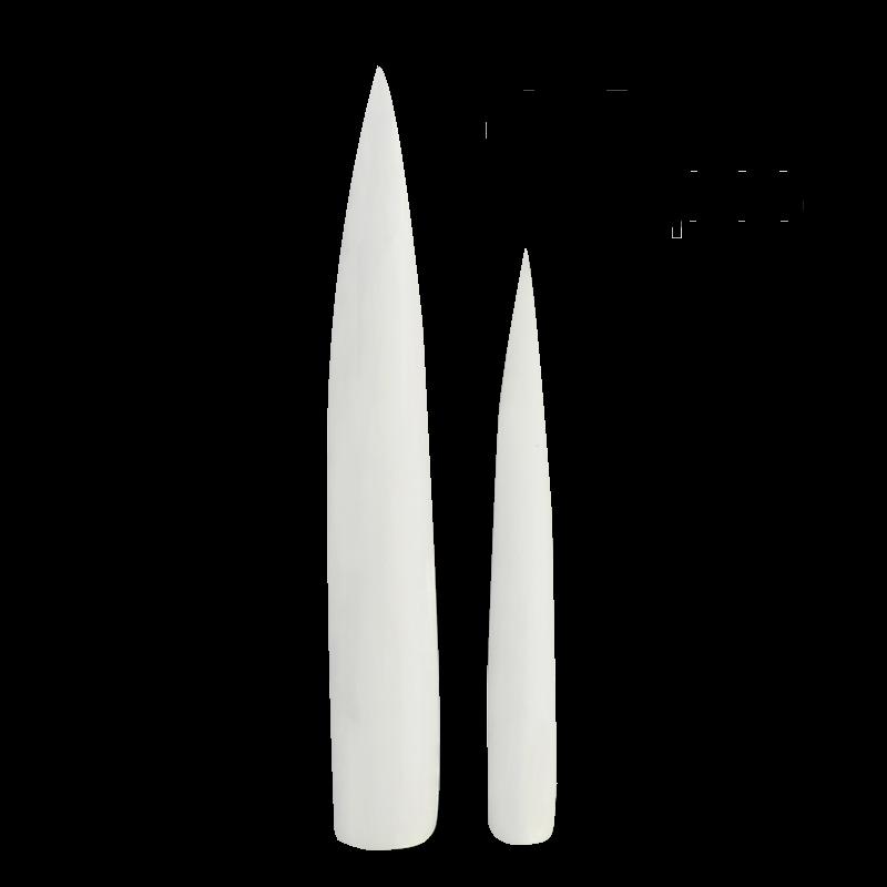 Extra Long Natural Stiletto Nail Tip 12pcs