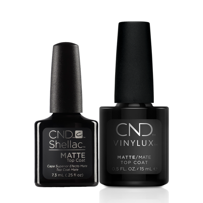 CND Shellac + Vinylux Matte Top Coat Duo